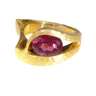 14kt Yellow Gold and Pink Tourmaline Ring