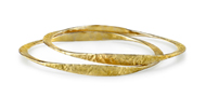 18kt Yellow gold Textured Bangle Bracelets