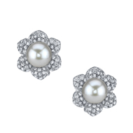 18kt White Gold and South Sea Pearl Earrings