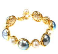 14Kt Yellow Bracelet with Pearls