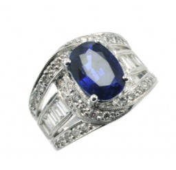 sapphire ring side view