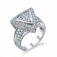 Trillion Diamond Engagement Ring from Adeler Jewelers
