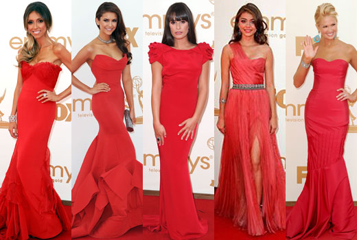 Red Dresses At The 2017 Emmy Awards