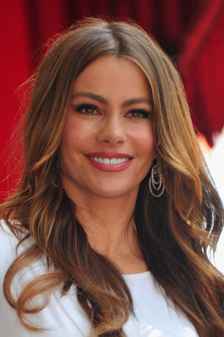 Sophia Vergara on the Hollywood walk of fame