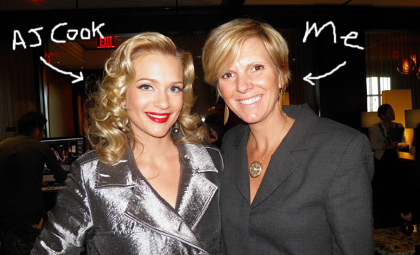 A J Cook and Wendy Adeler at the CBS watch magazine shoot