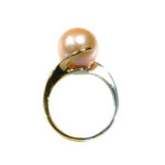 14kt Yellow Gold and Sterling Silver Ring with Freshwater Spice Pearl