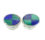 Sterling Silver Cuff Links with Lapis and Malachite