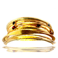 14kt Yellow Gold Stacked Bangle Bracelets