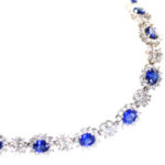 14kt White Gold, Sapphire and Diamond Bracelet