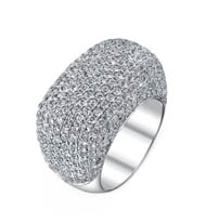 SOLD 18kt Micro Pave Diamond Ring