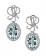 18kt Aquamarine and Diamond Earrings