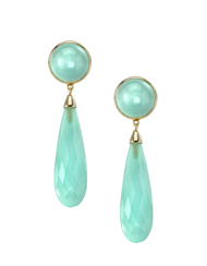 14kt yellow gold Chalcedony Earrings