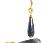 14kt Yellow Gold and Labradorite Earrings