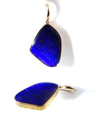 14kt Yellow Gold and Lapis Lazuli Earrings