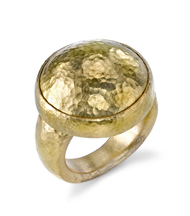 18kt Yellow Gold Hammer Finish Ring