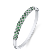 18kt White gold Diamond and Tsavorite Bracelet