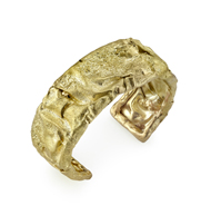 18kt Yellow gold Wrinkled Paper Cuff