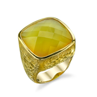 14kt Yellow Gold and Yellow Chalcedony Ring