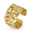 18kt Yellow gold Crinkled Wide Cuff Bracelet