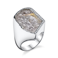 14kt White Gold Morganite and Diamond Ring