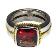14kt Two Toned Gold and Andesine Ring