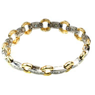 14Kt Two Tone Bracelet with Diamonds