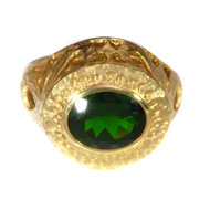 14kt Yellow Gold ring and Chrome Diopside