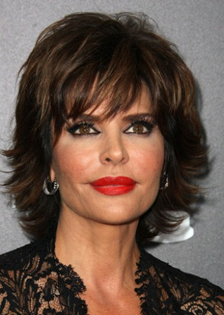 Lisa Rinna Wearing a Sparkling White Topaz Ring and Earrings by Adeler Jewelry to the Daytime ...