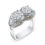Platinum and Double Diamond Engagement Ring