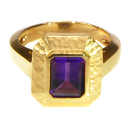 14kt Yellow Gold Ring with Amethyst