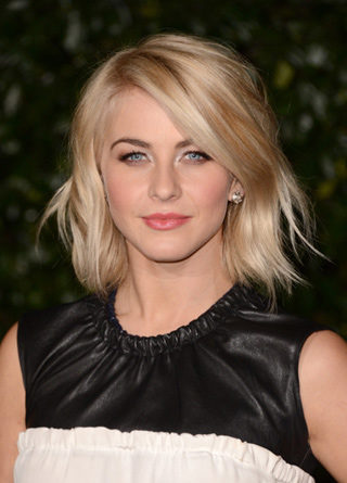 Julianne Hough wearing custom Adeler diamond stud earrings