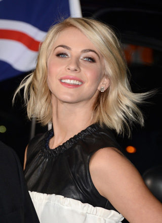 Actress Julianne Hough with Adeler gold diamond stud earrings