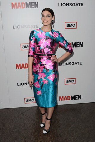 Jessica Pare at the premier of Mad Men with Adeler Jewelers