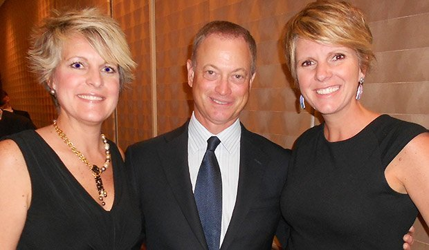 Gary Sinise with Val and Wendy Adeler
