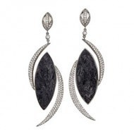 14kt-white-earrings-with-rough-black-Tourmaline-and-half-moon-Diamond-shapes-300 copy