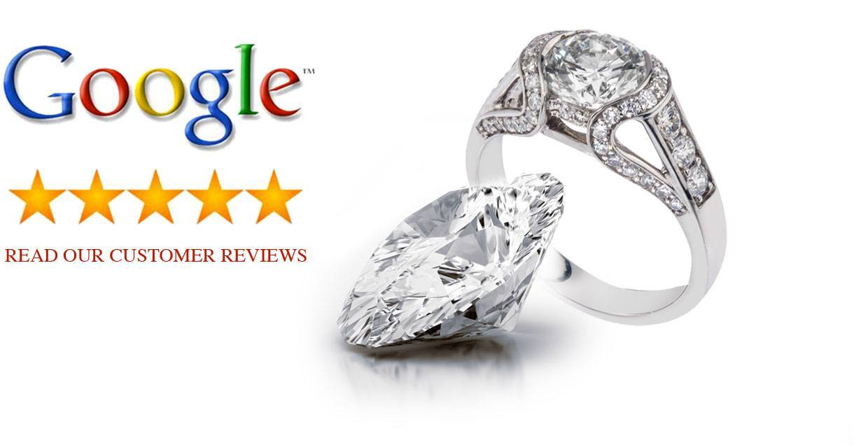 5 star Google reviews for Adeler Jewelers custom design services