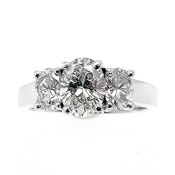 3 stone custom diamond engagement ring