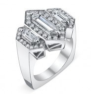 diamond baguette engagement ring from Adeler Jewlers