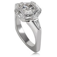 custom designed hexagonal diamond engagement ring from Adeler Jewelers