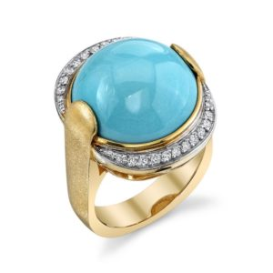 Blue ring custom jewelry for women