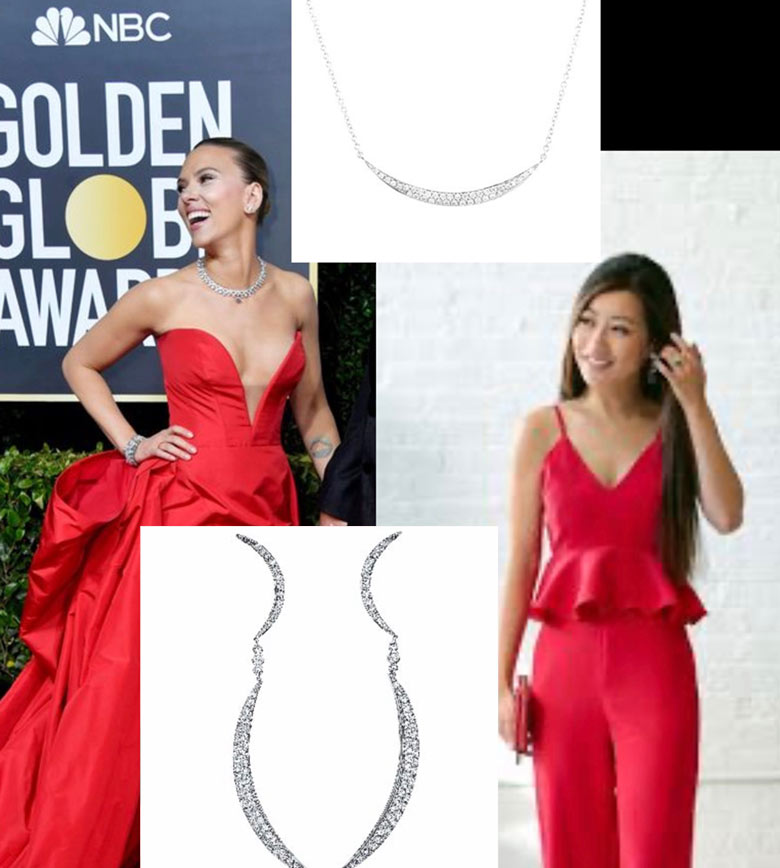 beautiful bright red dress with a plunging neckline perfect for valentines day